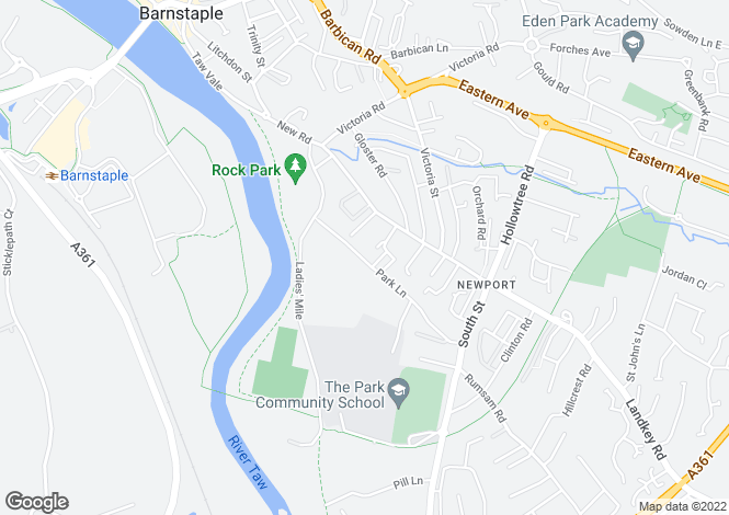 Map for Park Lane, Barnstaple