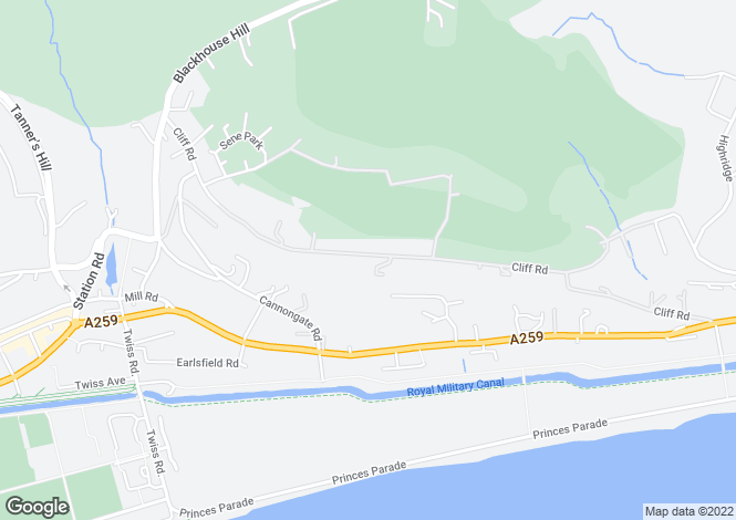 Map for Cliff Road, Hythe CT21