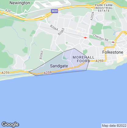 Map of property in Sandgate
