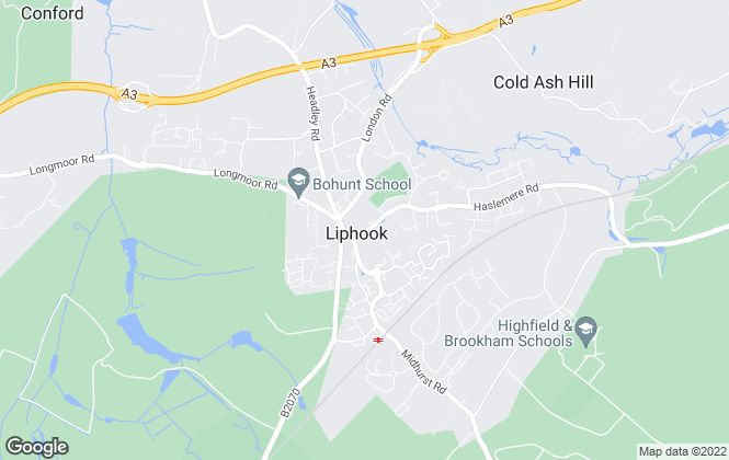 Map for Kelway Law Estate Agents, Liphook