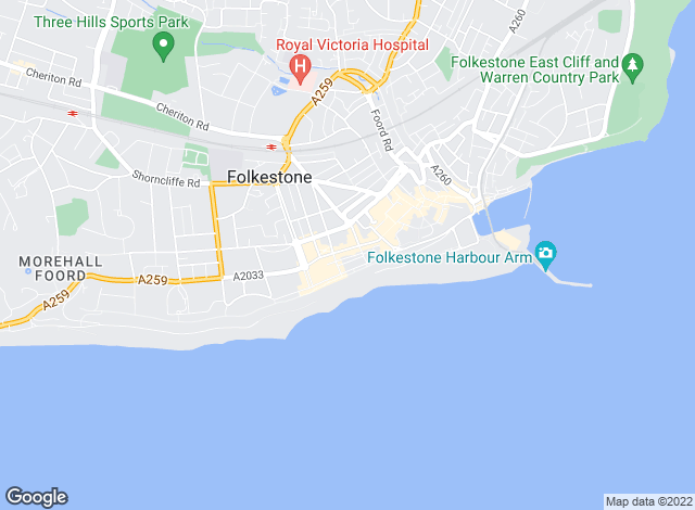 Map for Fell Reynolds, Folkestone