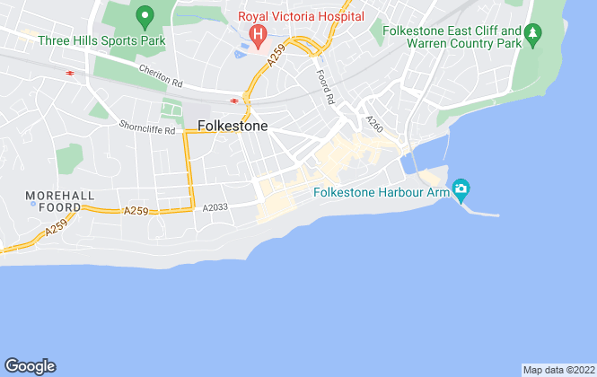Map for Bairstow Eves, Folkestone