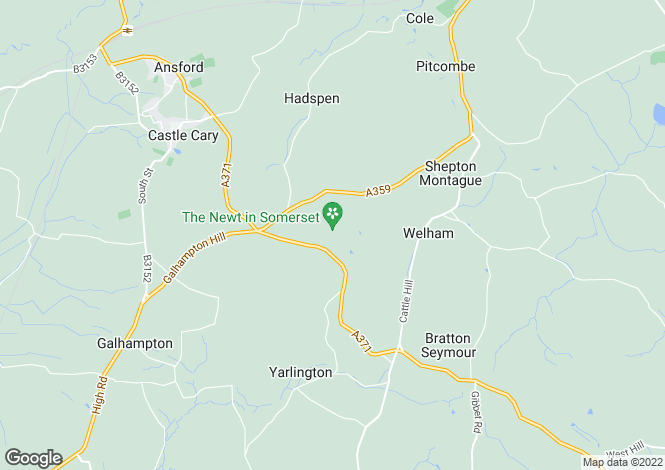 Map for Hadspen, Castle Cary, Somerset, BA7