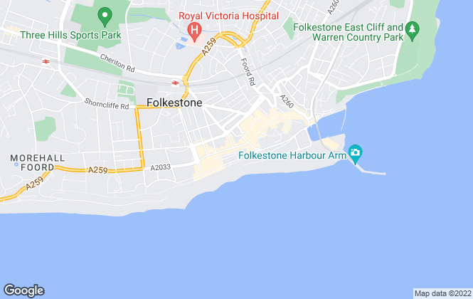 Map for YOUR MOVE, Folkestone
