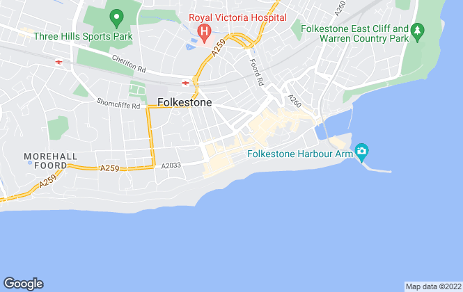 Map for Robert Allen Sales & Lettings, Folkestone