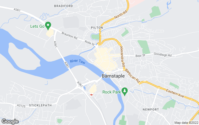 Map for Phillips, Smith & Dunn, Barnstaple