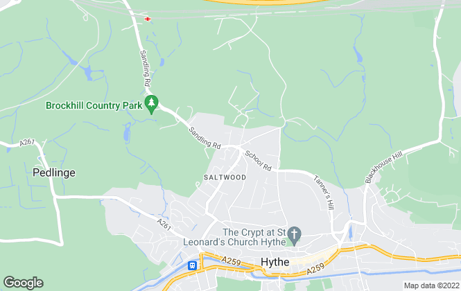 Map for Colebrook Sturrock, Hythe