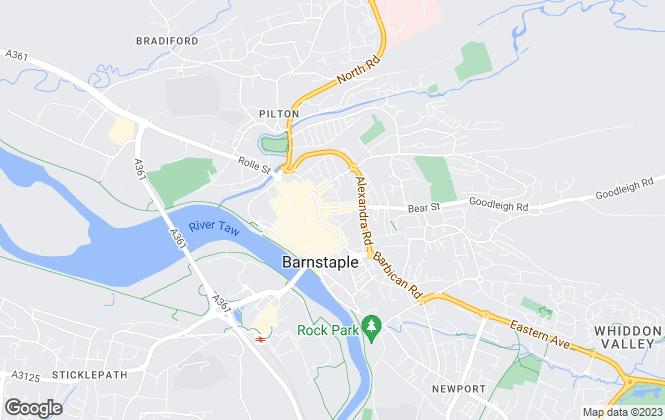 Map for Collyers, Barnstaple