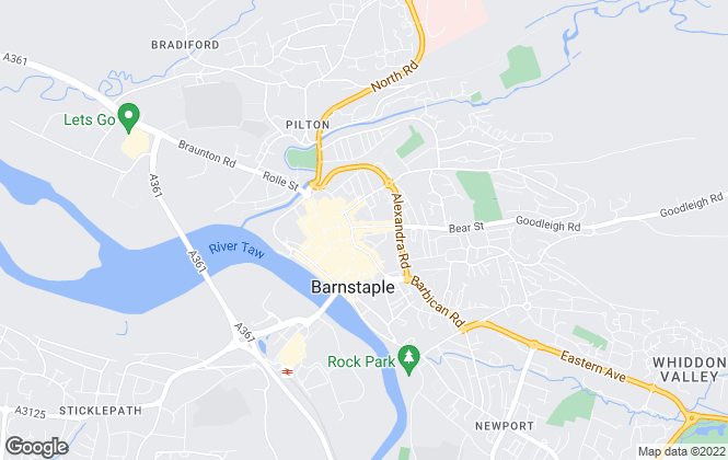 Map for Collyers, Barnstaple