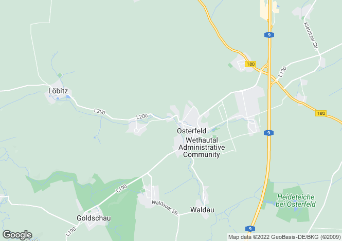 Map for Osterfeld, Saxony-Anhalt