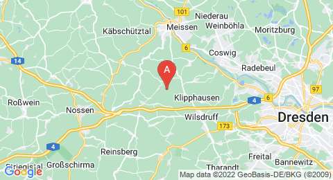 map of Baeyerhöhe (Germany)