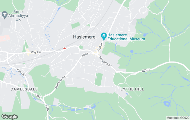 Map for M.H. James, Haslemere