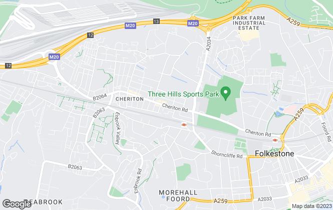 Map for Waterfield Brooke Estates, Folkestone