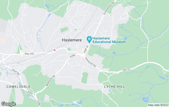 Map for Hamptons International Sales, Haslemere