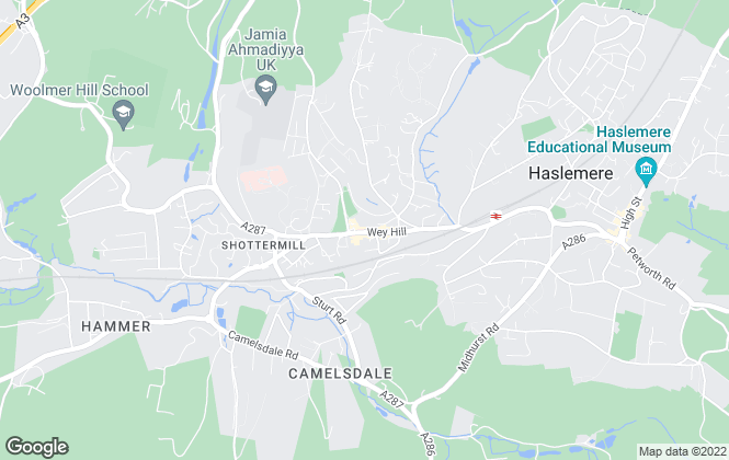 Map for Kelway Law Estates Agents, Haslemere
