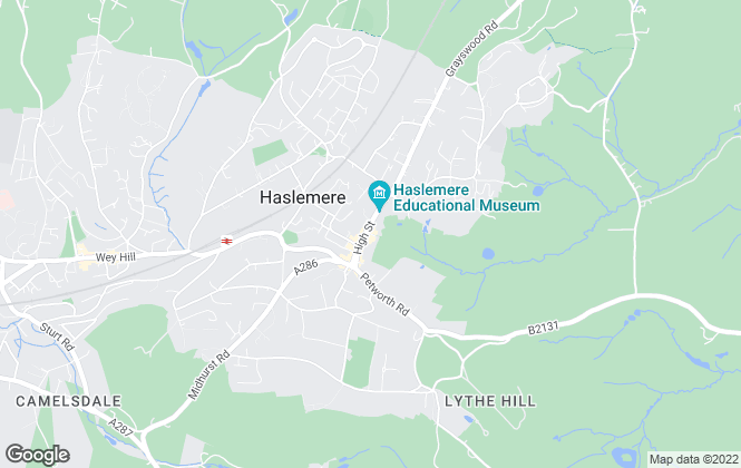 Map for Henry Adams, Haslemere