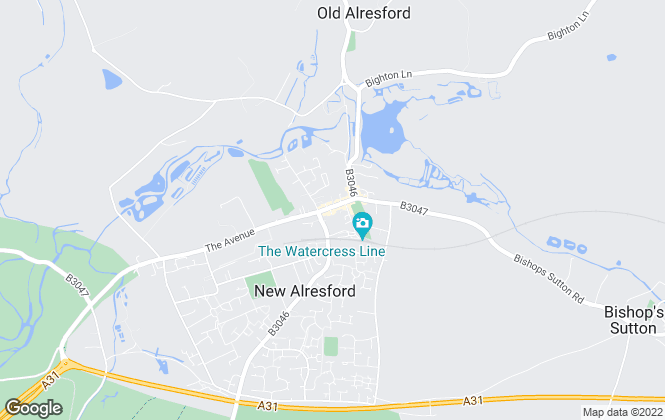 Map for Charters, Alresford