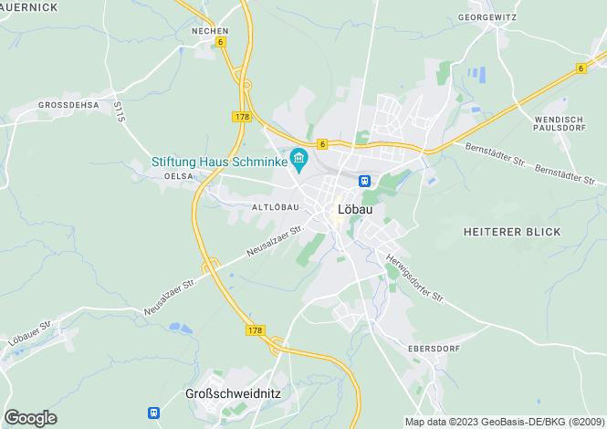 Map for Löbau, Saxony