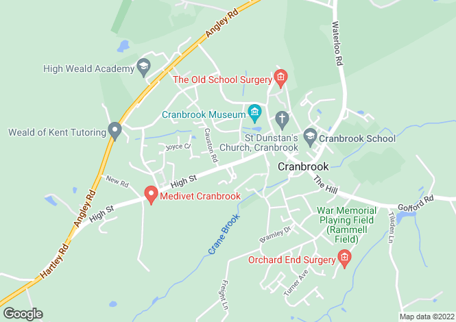Map for Cranbrook
