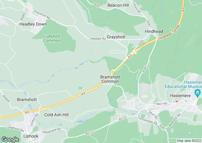 Map for Bramshott Chase, Hindhead, Hampshire