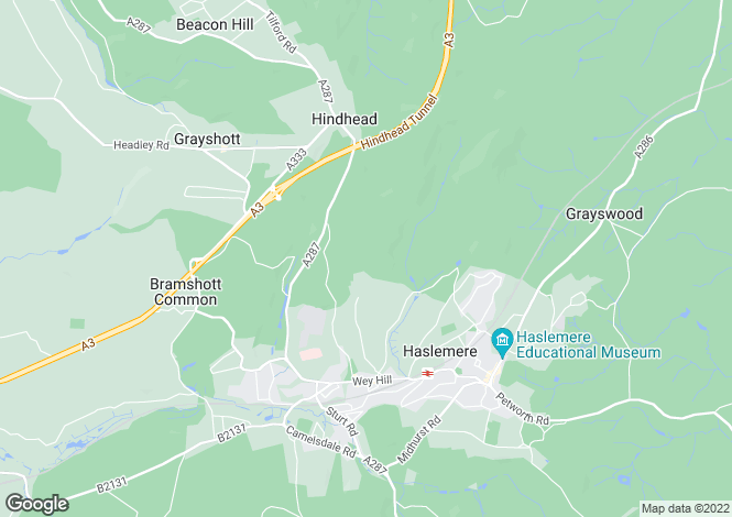 Map for HASLEMERE