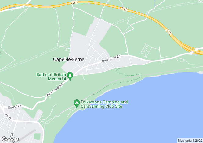 Map for Old Dover Road, Capel-Le-Ferne, Folkestone, CT18