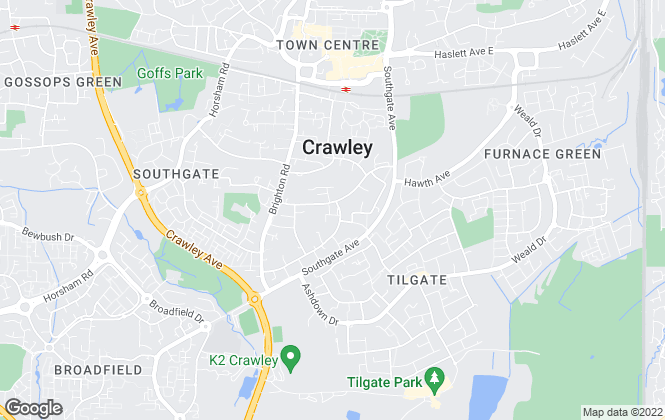 Map for Inspire Estate Agents, Crawley