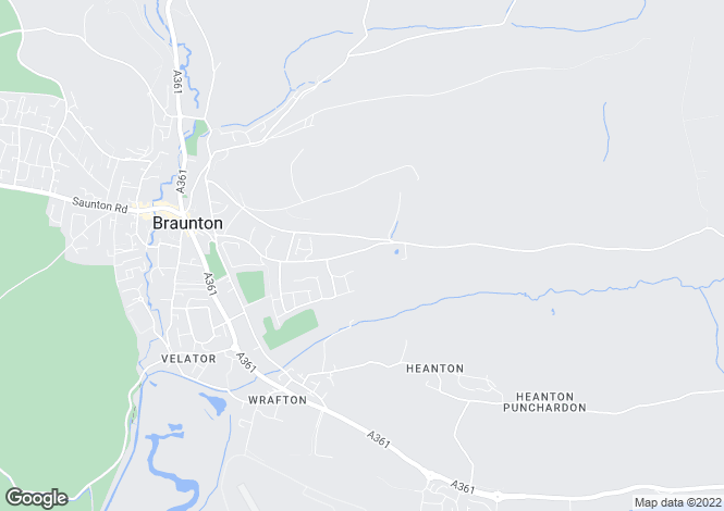 Map for BRAUNTON, Devon