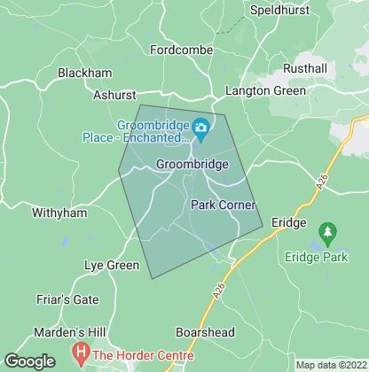 Map of property in Groombridge