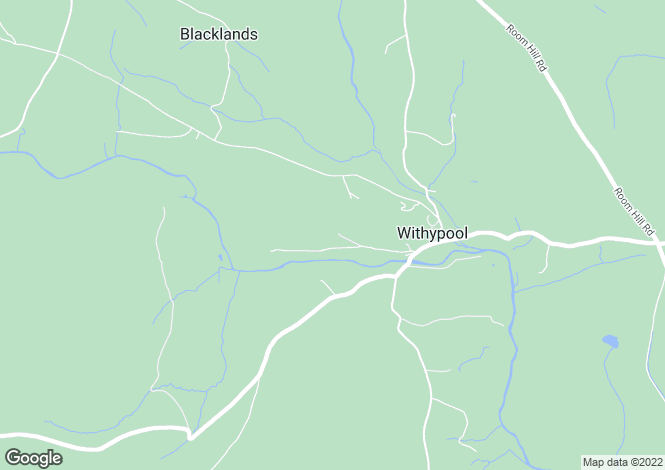Map for Withypool, Minehead, Somerset, TA24