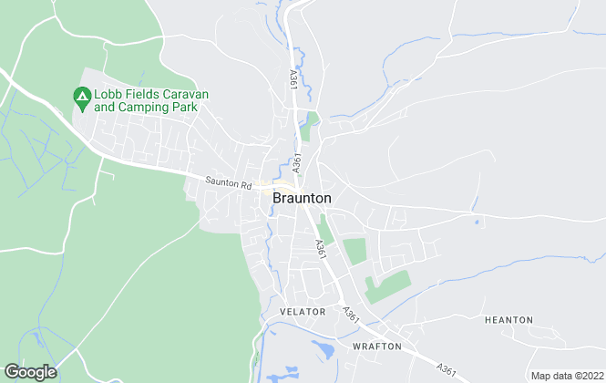Map for Phillips, Smith & Dunn, Braunton