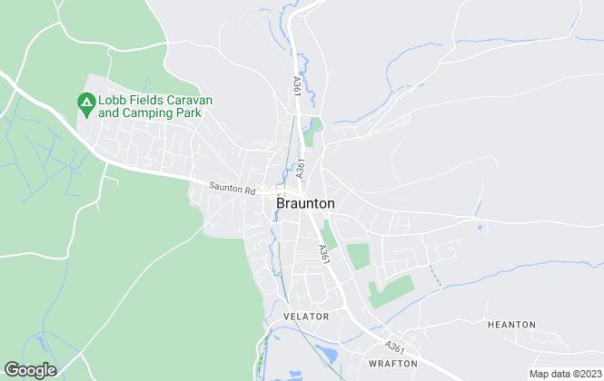Map for Bond Oxborough Phillips, Braunton