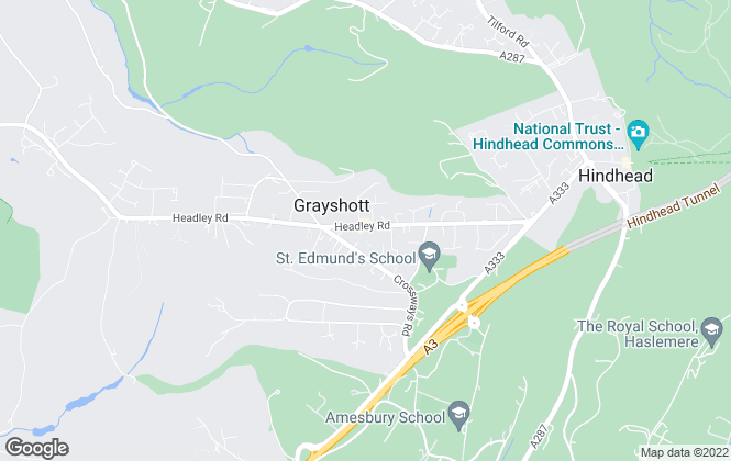 Map for SCR Sales and Lettings, Grayshott,