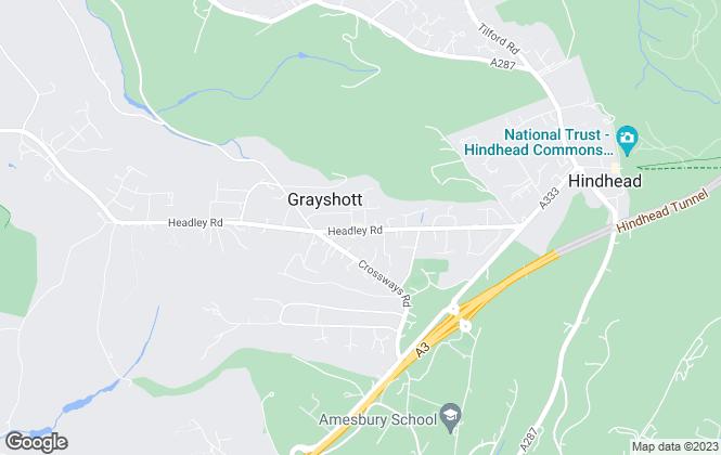 Map for Warren Powell-Richards, Grayshott