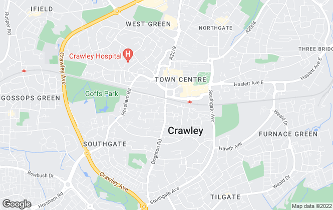 Map for Platinum Estates, Crawley
