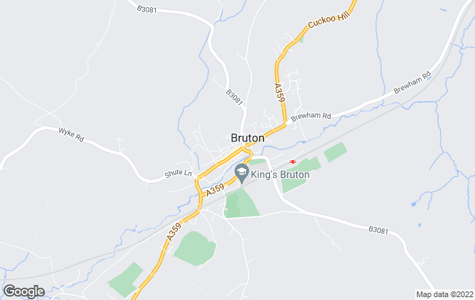 Map for Hunter French, Bruton