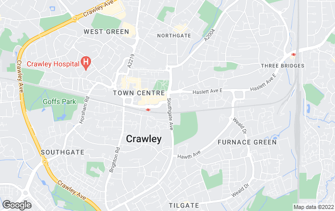 Map for ONE RENT, Crawley