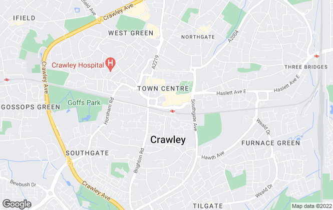 Map for Shawmove, Crawley