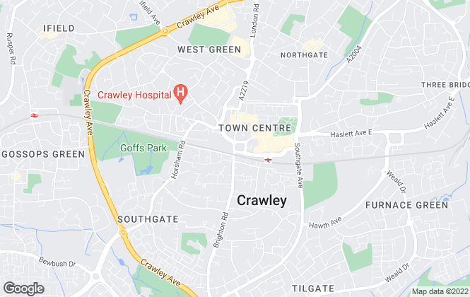 Map for Andrew Hunt Estate Agents, Crawley