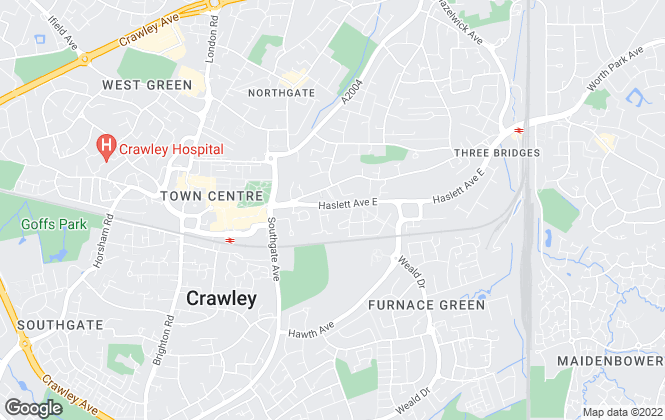 Map for Pure Property, Crawley