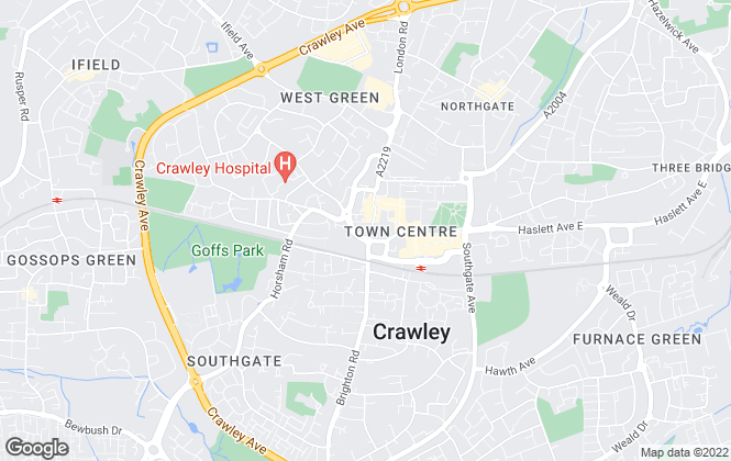 Map for Homes Partnership, Crawley