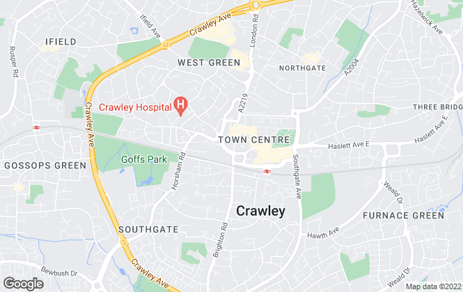 Map for HOMESpartnership, Crawley