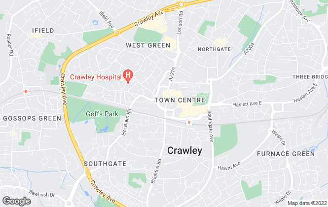 Map for Fox & Sons, Crawley