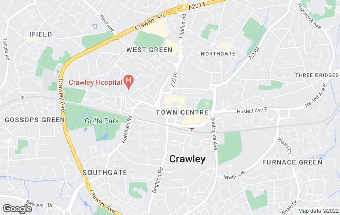 Map for Connells Lettings, Crawley