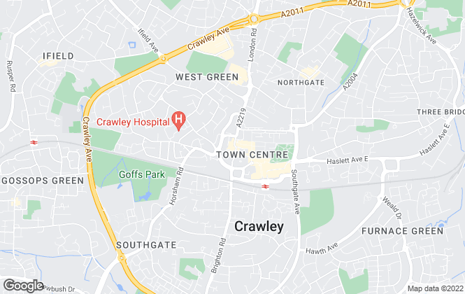 Map for Cubitt & West Residential Lettings, Crawley