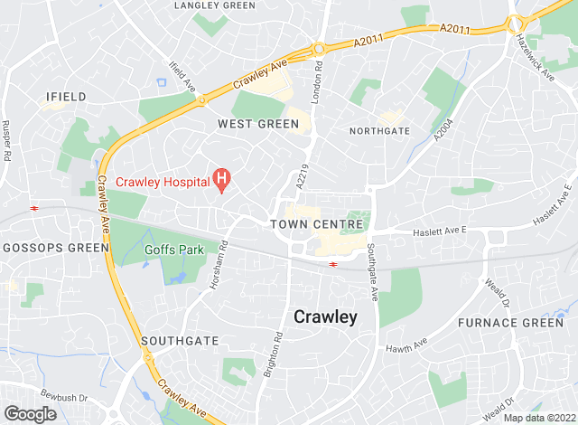 Map for Cubitt & West, Crawley