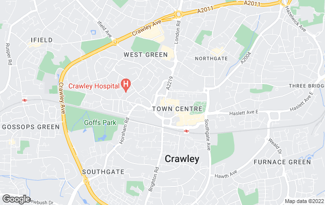 Map for Cubitt & West Residential Lettings, Crawley - Lettings