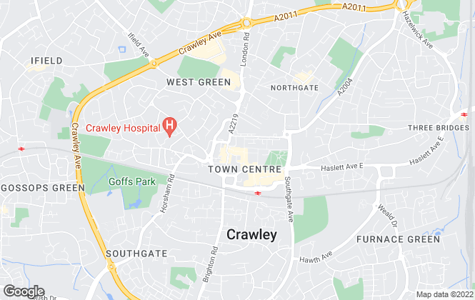 Map for Choices, Crawley