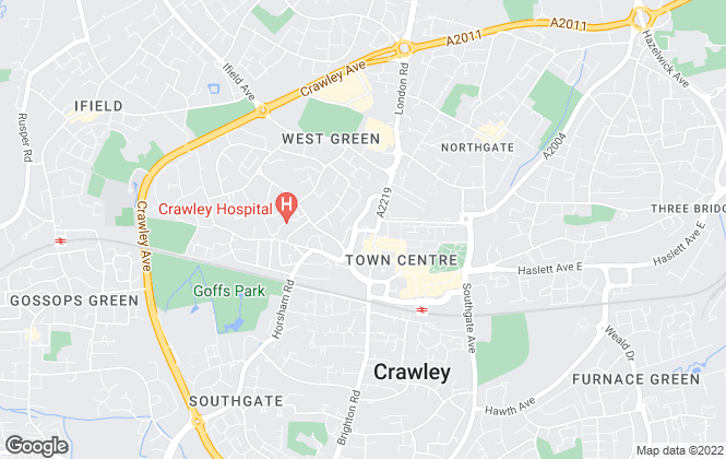 Map for Martin & Co, Crawley - Lettings & Sales