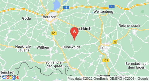 map of Czorneboh (Germany)